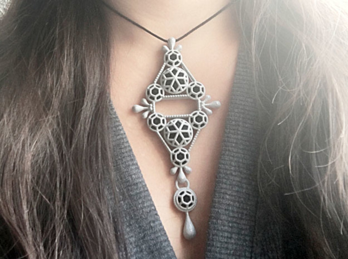 Gothic Pendant2 (cotton series) 3d printed