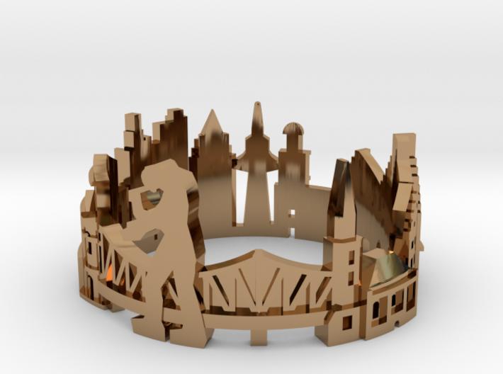 Frankfurt Skyline - Cityscape Ring 3d printed