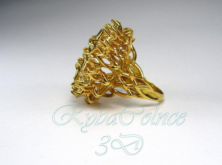 Ring The Thistle/ size 9 1/2 US (19.4 mm) 3d printed