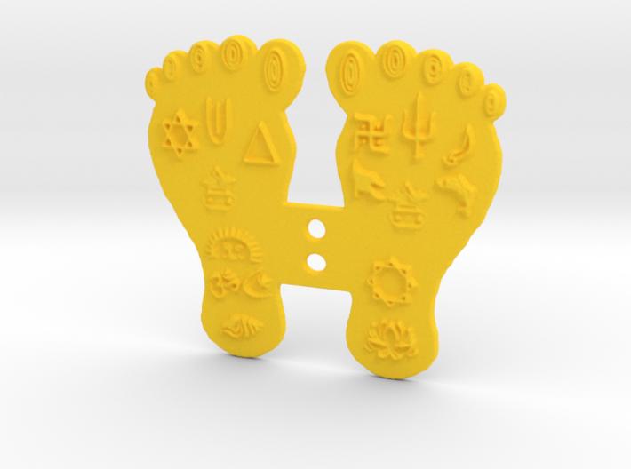 Goddess Mahalakshmi's Paduka Feet Frame Plaque 3d printed