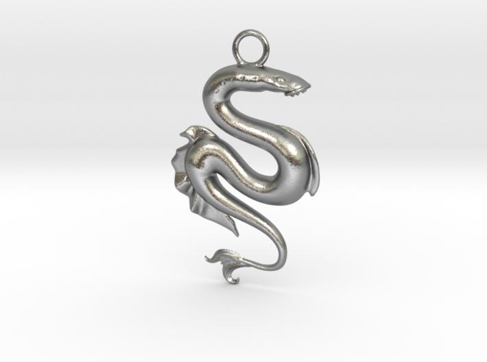 Lamprey Pendant 3d printed