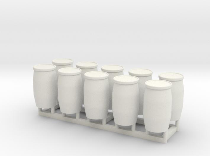 HO 10 Blue Barrels 3d printed