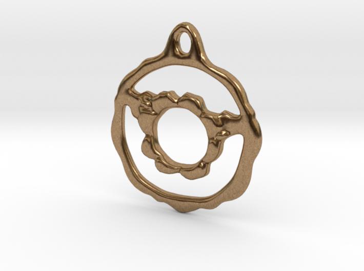 Flowery Hoop Pendant 3d printed