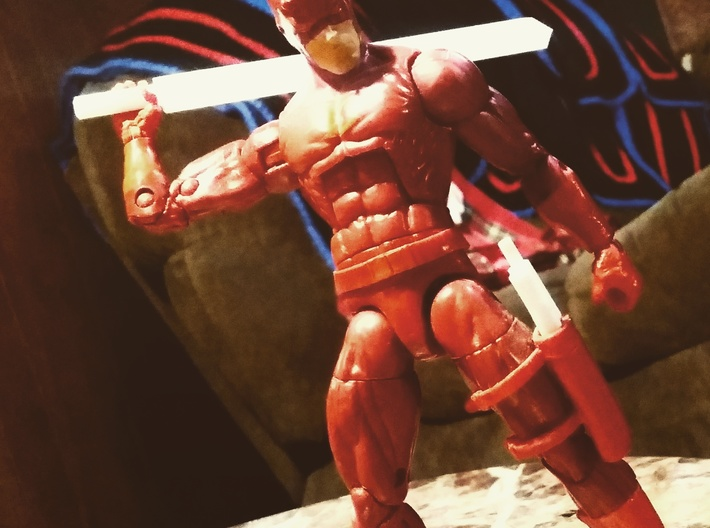 Genericon Broad Sword 3d printed This product with 6 in scale marvel legends.