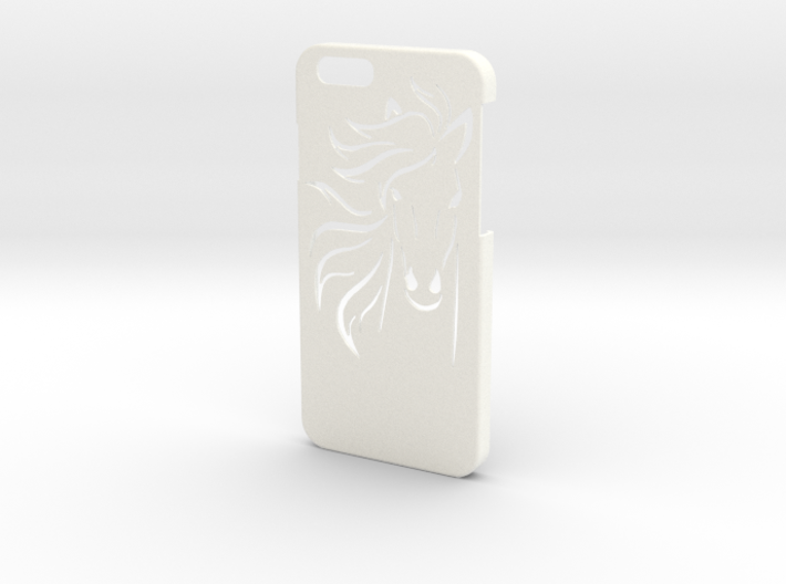 Iphone 6 Case - Name on the back - Horse 3d printed