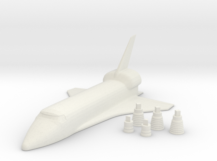 Space Shuttle + Your name 3d printed