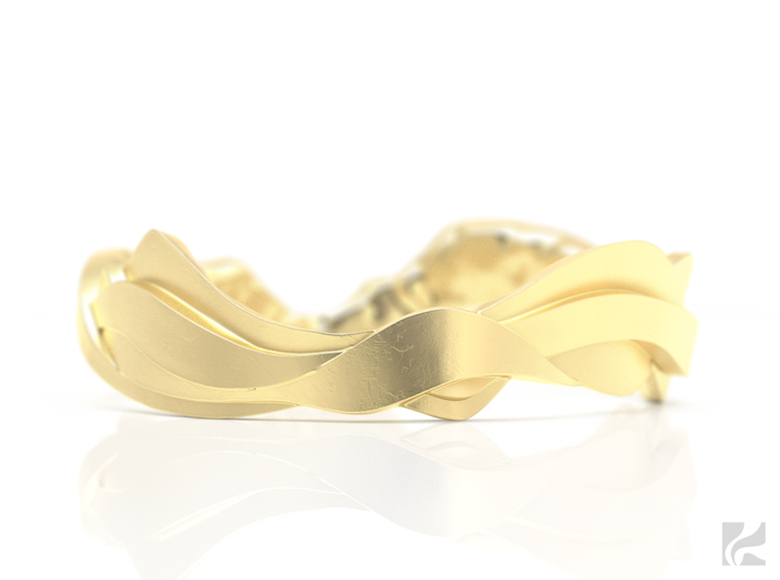 Sharp Edges Ring 3d printed Gold