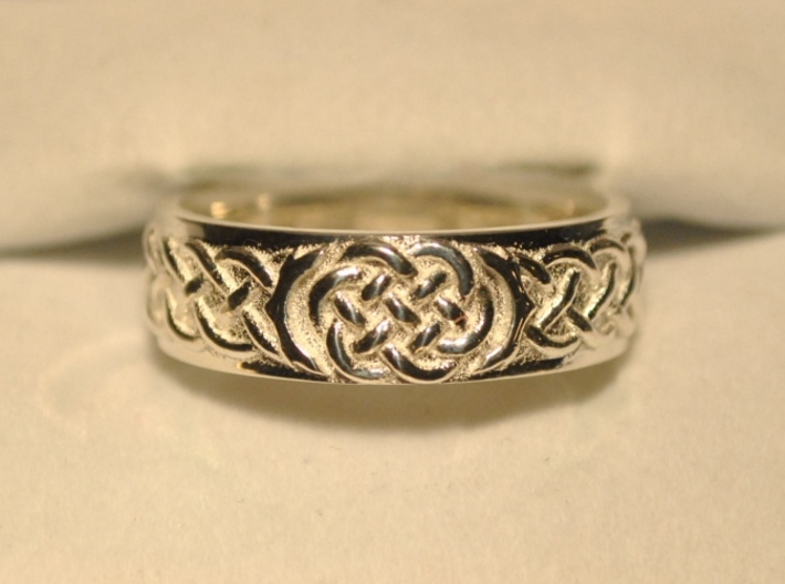 Celtic Wedding Knot Ring 3d printed Front