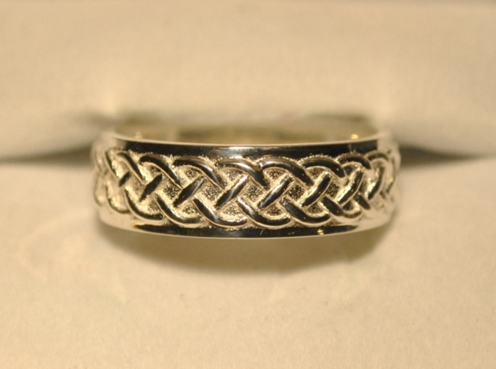 Celtic Wedding Knot Ring 3d printed Back