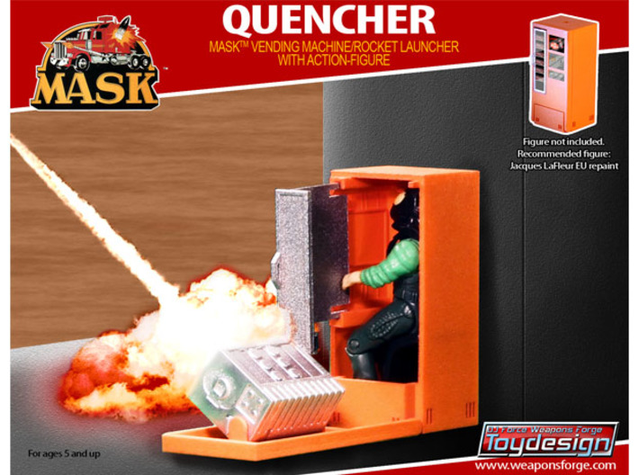 M.A.S.K. The Quencher  - Orange parts 3d printed The Quencher