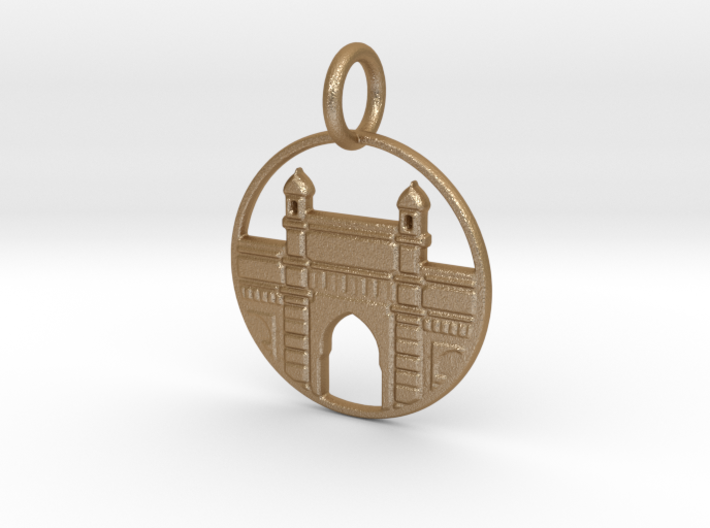 Gateway Of India 3d printed Gateway of India in Gold Steel