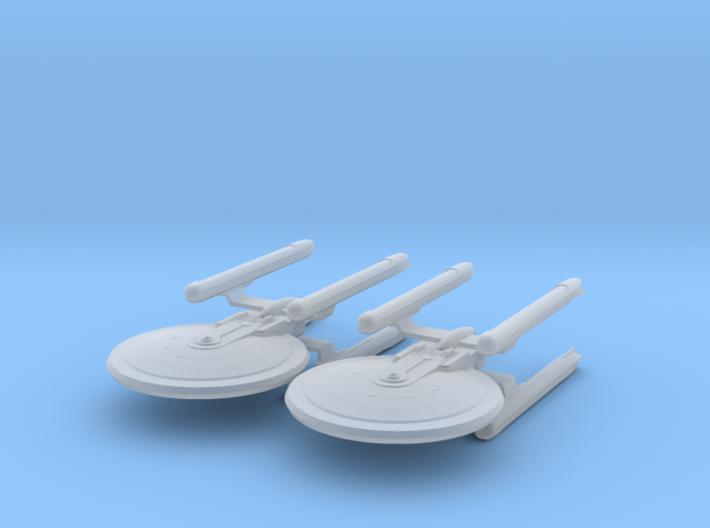 1/7000 - Tessera Explorer Cruiser - 2 ships pack 3d printed