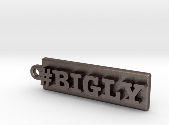 PRESIDENT DONALD J TRUMP KEY CHAIN #BIGLY 3d printed