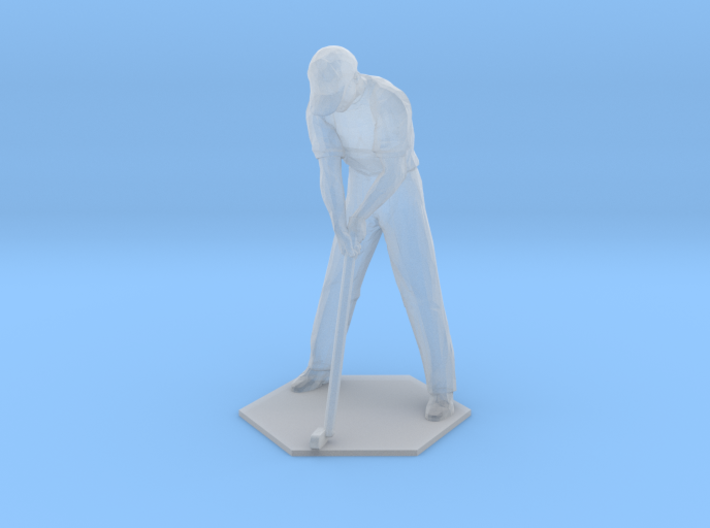 Male Golfer Puttiing S-Scale 3d printed