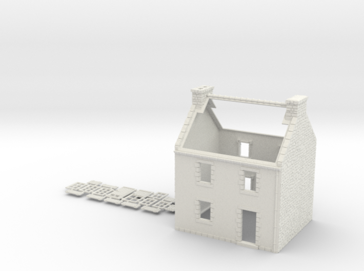 HOvMb03 - Brittany village 3d printed