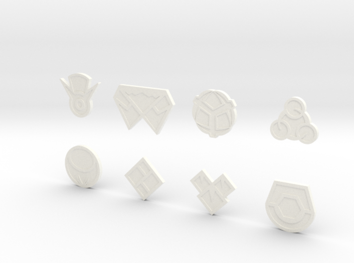 Sinnoh Gym Badges 3d printed