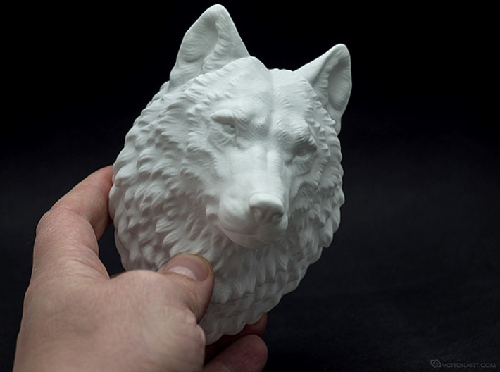 Proud Wolf head 3d printed Photo