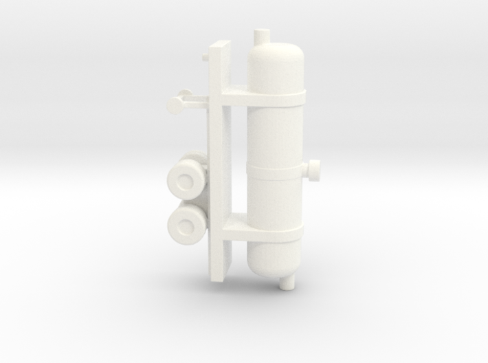 1/200 Scale Oxygen Tank Trailer 3d printed
