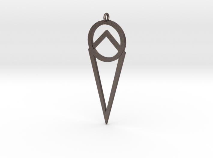 Alchemists Pendant 3d printed