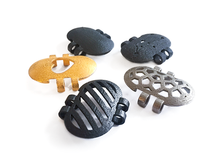 KPS Outer Piece - Andromeda 3d printed KPS outer pieces are available in a range of designs and materials.