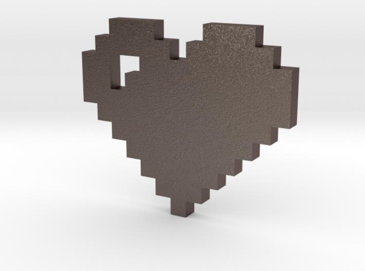 8 bit Pixel heart 3d printed