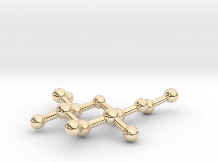 Ethyl Beta-D-glucopyranoside Pendant 3d printed