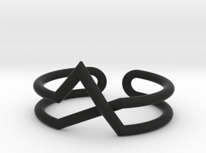 Continuous Geometric Line Bracelet 3d printed