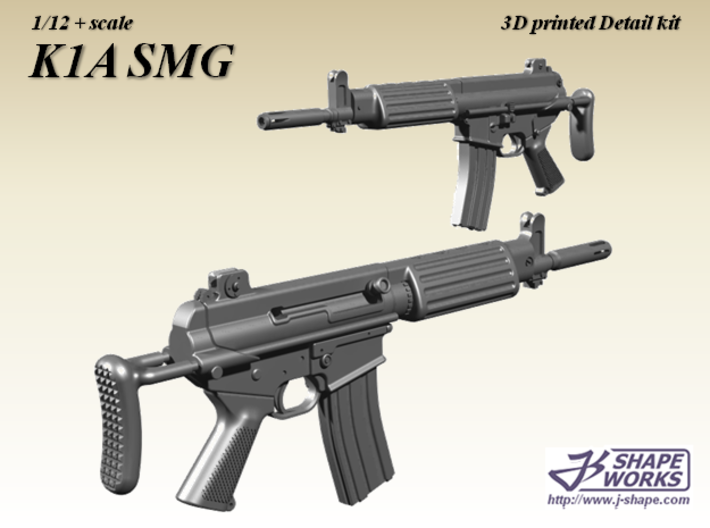 1/12+ K1A SMG 3d printed