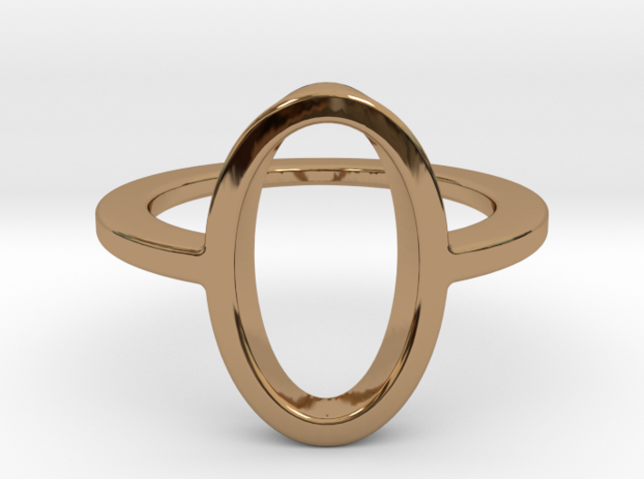 Oval Ring -size 8 3d printed