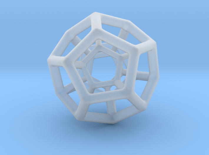 Double Dodecahedron 3d printed