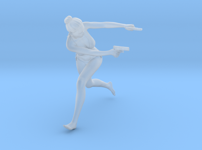 1:24 Female Warrior 009 3d printed