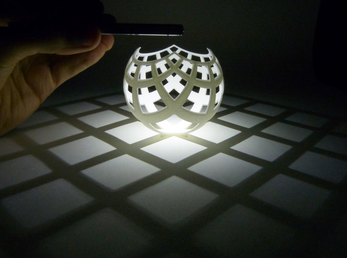 Grid (stereographic projection) 3d printed