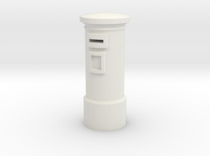 N/OO Scale English Post Box 3d printed