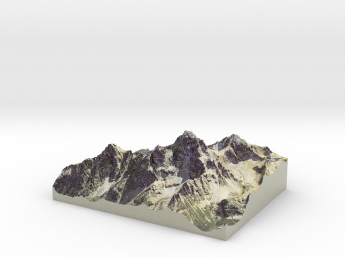 "Grand Teton Map, Wyoming (8.5""x11"") 3d printed"