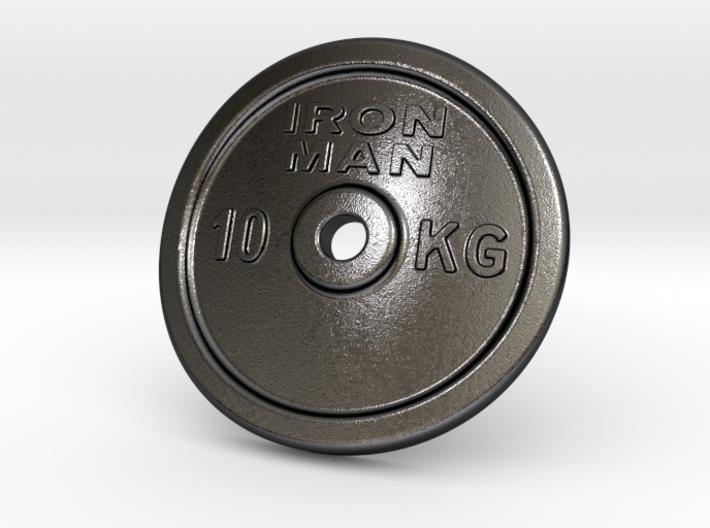 Plate Barbell Belt Buckle 3d printed