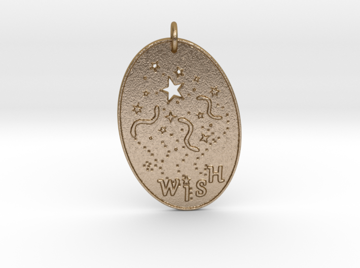 Shooting Stars Wish 1 Pendant by Gabrielle 3d printed