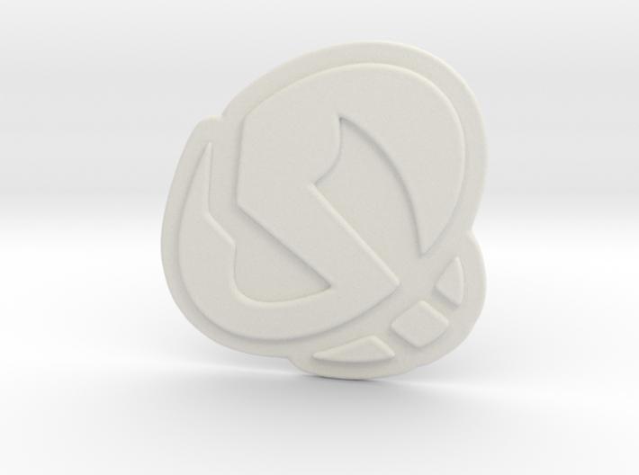 Team Skull Pendant 3d printed
