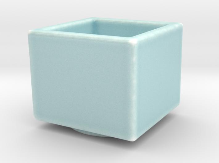 Celadon Selfie Square Succulent Planter 3d printed