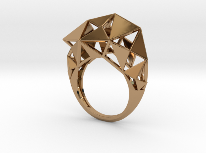 Meshed Up Ring 3d printed