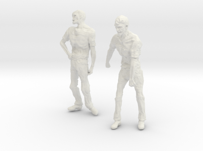 1-24 Male Zombie Set2 3d printed