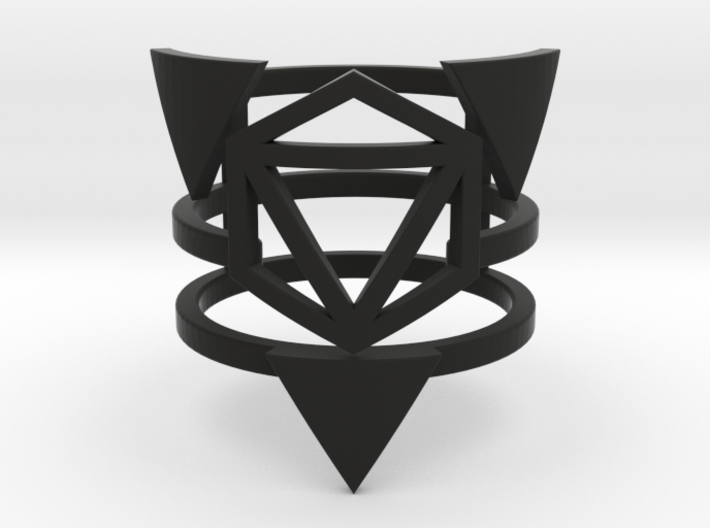 Zero Point Multiband Ring 3d printed