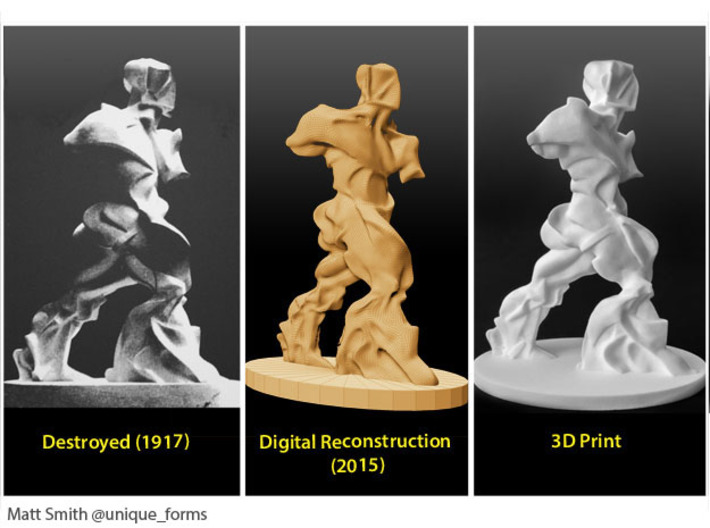 Spiral Expansion of Muscles in Movement - 15.2cm 3d printed Remaking phases