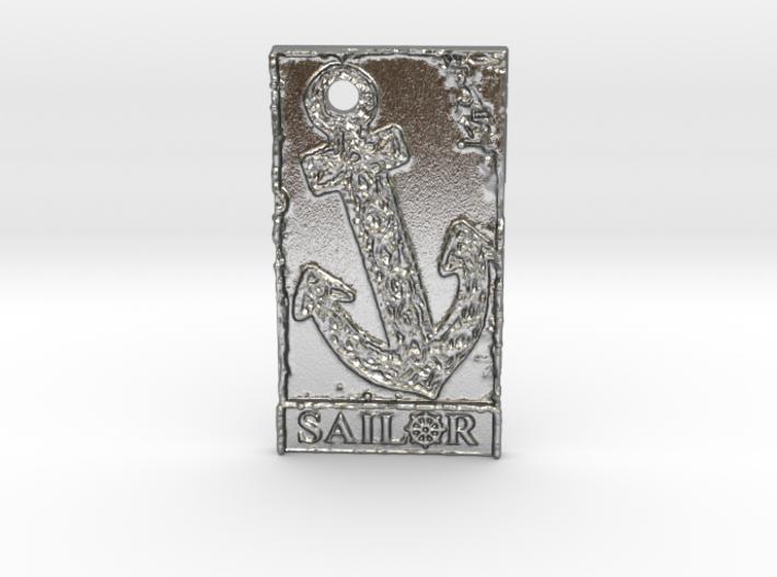 Celtic Anchor Sailor Pendant 1 by Gabrielle 3d printed