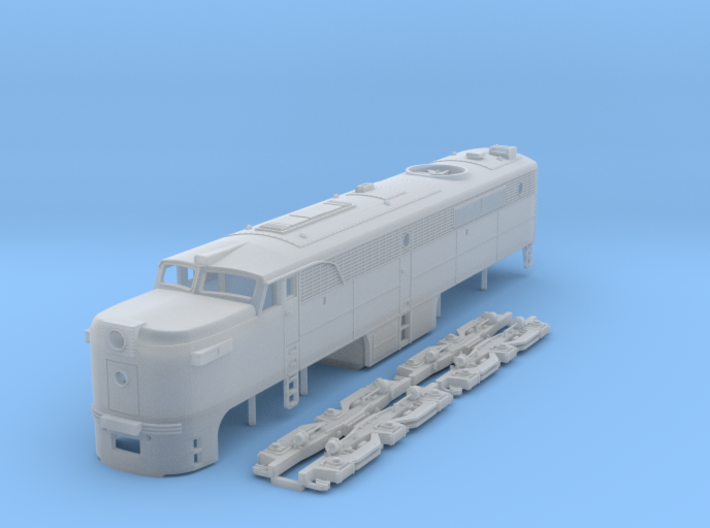 TT Scale ALCo PA-1 3d printed