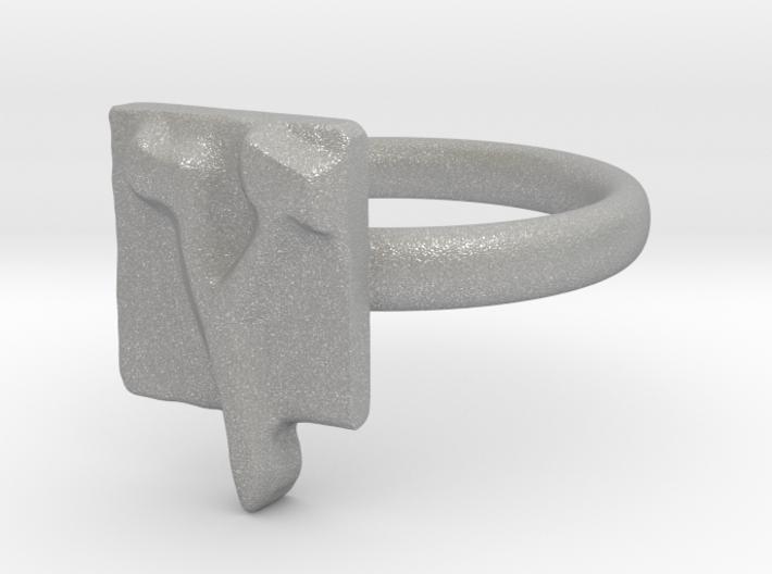 27 Tzadi-sofit Ring 3d printed