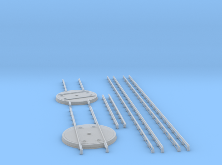 1/48 IJN Turntable For Aircraft Deck Rails 3d printed