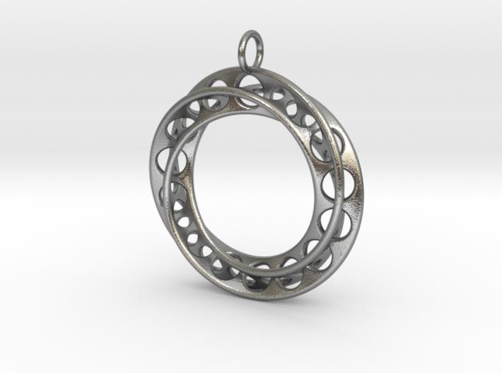 Moebius Band Ø30mm Pendant improved Version 3d printed