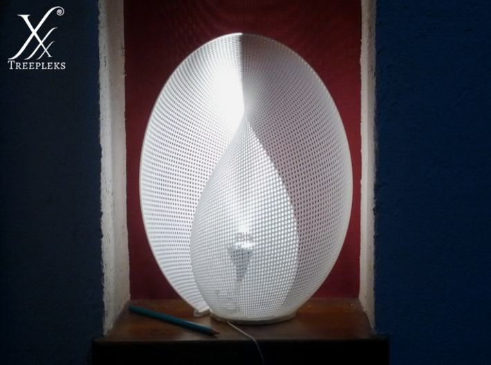 Yin-Yang Lamp (33.3 cm) 3d printed A close view on the printed lamp, 5W LED inside.