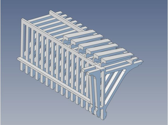 PEIR 1904 Booking Stn Roof Brackets 1 25 Scale X 1 3d printed