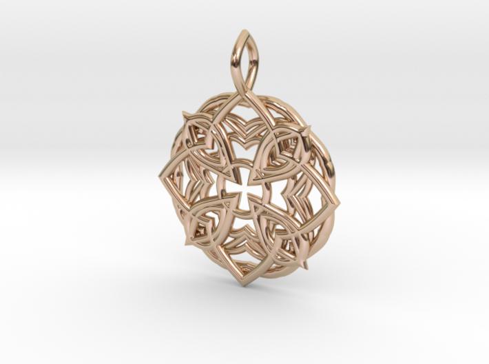 Mandala Pendant 3 3d printed